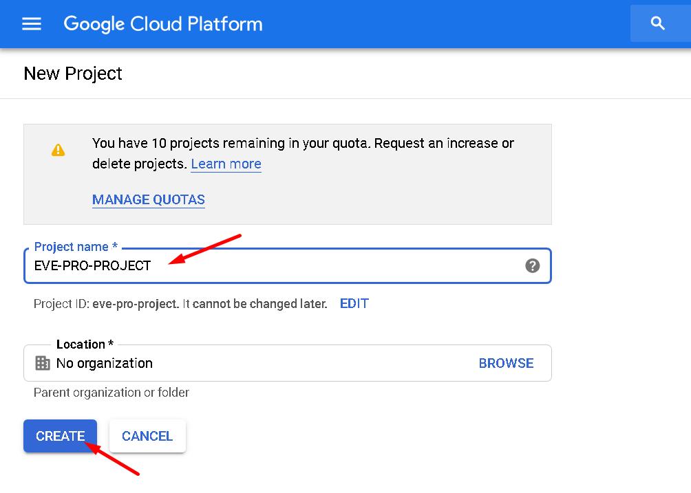Google Cloud Install